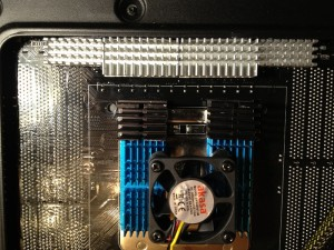 Power backplate cooling