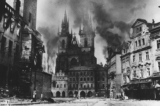 Burning Prague